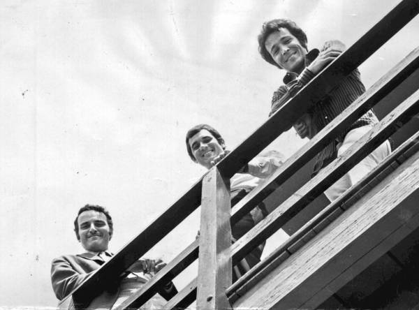 Gil Friesen, center, is flanked by Jerry Moss, left, and Herb Alpert. Friesen was sometimes called the ampersand in A&M.