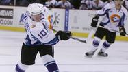 The Solar Bears (10-12-2-2) lost to host Elmira 4-1 Friday night after a pair of goals in the second period led the Jackals to victory.
