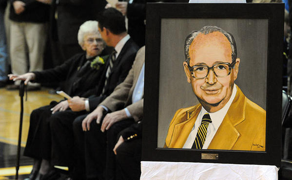Freedom High School held a ceremony to rename the gymnasium to the Joseph J. McIntyre Gymnasium in memory of Freedom High School's first principal Friday night.