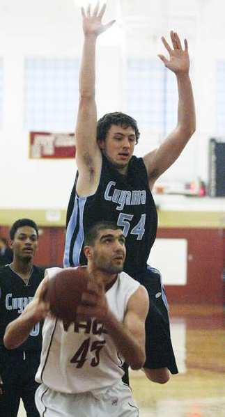 GCC big man Gor Plavchyan scored nine of his 13 first-half points in a key 12-0 run. He finished with 20 points.
