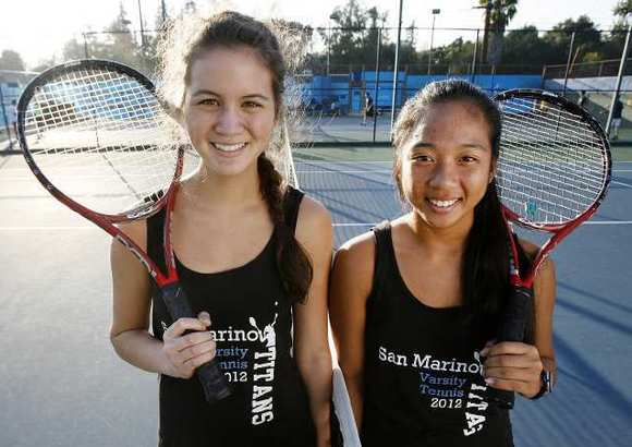 Larissa Phillips and Madeline Gandawidjaja of San Marino High School.