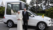 Pope gets new Mercedes Popemobile