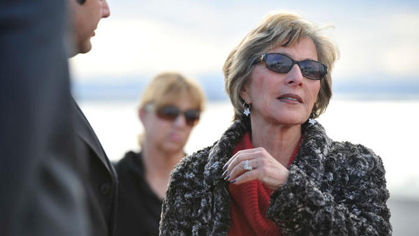 U.S. Sen. Barbara Boxer joins state and federal officials on a tour of the Salton Sea on Friday.