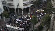 ATHENS — Hundreds of Greeks and activists from 19 other European countries took to the streets of Athens on Saturday in protest against a far-right party that critics fear could feed extremism across the continent.
