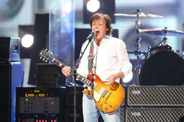 """Paul McCartney, shown performing Wednesday in New York, has a new recording that will premiere Sunday on """"Breakfast With the Beatles"""" in Los Angeles."""