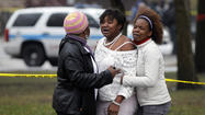 Photos: Crowds gather near shooting scene