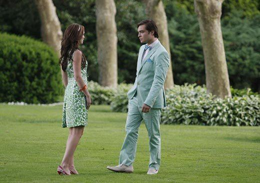 'Gossip Girl' fashion: The good, the bad and the exceedingly ugly: More sherbet-hued refinement from Chuck and Blair.