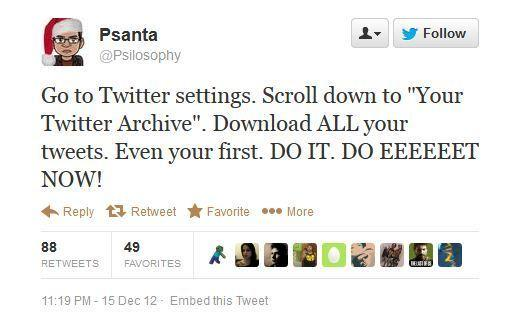 Some users have started to spot a Twitter Archive feature.