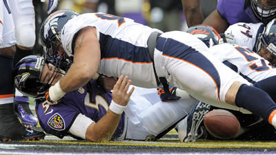 Ravens embarrassed by Broncos in third straight loss