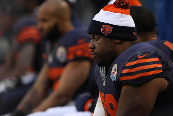 The look on tackle Jonathan Scott's face sums up the mood of Bears fans after this loss. The offense looks worse every week. Can they recover in time to make the playoffs? RECORD: 8-6