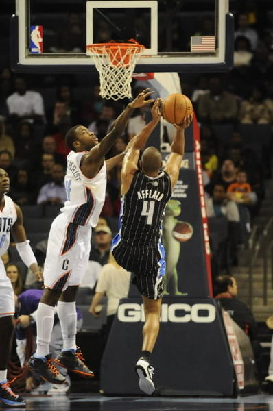 Orlando's Arron Afflalo drives to the basket against Charlotte's Michael Kidd-Gilchrist. Sam Sharpe, USA Today Sports.