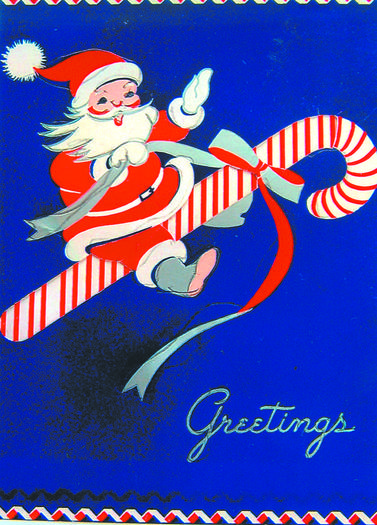 Christmas card from the '50s.