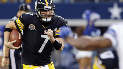 Pittsburgh Steelers quarterback Ben Roethlisberger runs with the ball against the Dallas Cowboys on Sunday.