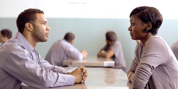 "Omari Hardwick and Emayatzy Corinealdi in the movie ""Middle of Nowhere."""