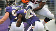Hurdled and bulldozed by Denver Broncos running back <strong>Knowshon Moreno</strong> and outsmarted by quarterback <strong>Peyton Manning</strong>, the Ravens' defense was rendered largely helpless Sunday.