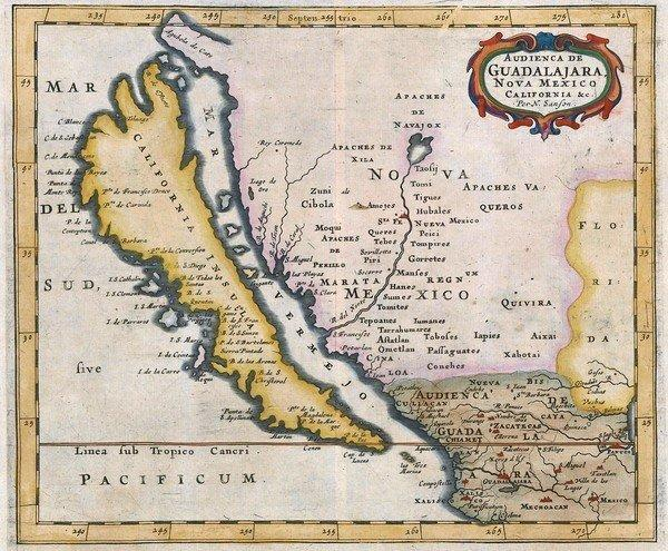 This 17th century map by Nicolas Sanson clearly shows California depicted as an island. It's one of 800 such maps collected by Glen McLaughlin and recently turned over to Stanford University.