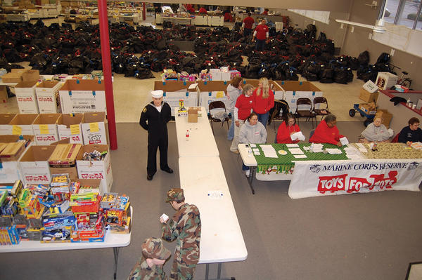 The Toys for Tots campaign for Franklin and Fulton counties in Pennsylvania distributed presents to 817 families on Sunday in Chambersburg, Pa.