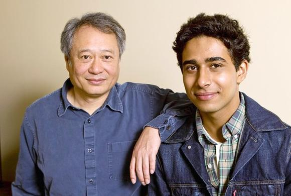 Suraj Sharma with Ang Lee