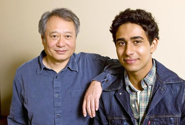 "Actor Suraj Sharma, right, and director Ang Lee developed much mutual respect during the filming of ""Life of Pi."""