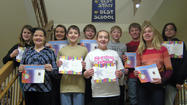 Simmons Middle School seventh grade students of the month