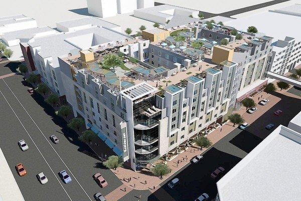 The Eleve Lofts & Skydeck apartment and retail complex in Glendale is shown in an artist's rendering. The $34-million project is designed to appeal to Generation Y renters looking to have a place without roommates.
