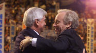 Lieberman Congratulated By Chris Dodd