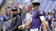 Jim Caldwell's debut as the Ravens offensive coordinator did not go swimmingly as the offense went three-and-out in its first five possessions and didn't record a first down until midway through the second quarter en route to the Ravens' 34-17 loss to the Denver Broncos Sunday.