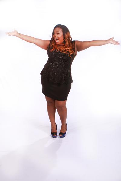 """Glee"" star Amber Riley strikes a pose at VH1's ""Divas"" concert."