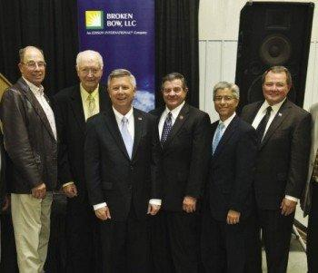 Edison Mission Energy executives, including President Pedro Pizarro (second from right), dedicating a new wind power project in Nebraska. The Santa Ana-based company has filed for Chapter 11 bankruptcy.