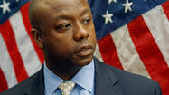 WASHINGTON -- Rep. Tim Scott, a freshman tea party Republican, will become South Carolina's first black senator, Gov. Nikki Haley, announced Monday, appointing the congressman to fill the seat left vacant by Jim DeMint.
