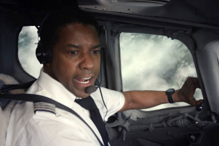 "Yes, Denzel Washington is strong as a pilot whose addictions make him anything but a faultless hero. Yet the movie goes nowhere new in its portrait of alcoholism or drug addiction, and the cheap ending serves as  cop out to any potentially sticky moral questions. Plus: The script does not adequately emphasize key relationships and incorporates one character (played by Kelly Reilly) whose introduction, incorporation and dismissal couldn't be more contrived. <br><br><a target=""_blank"" href=""http://www.redeyechicago.com/entertainment/movies/redeye-movie-review-flight-20121031,0,4881933.column""><b>Click here for our full review</b></a>"