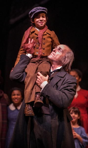 "Photos from Charles Dickens' ""A Christmas Carol"" performed at the Goodman Theater starring Larry Yando as Ebeneezer Scrooge."
