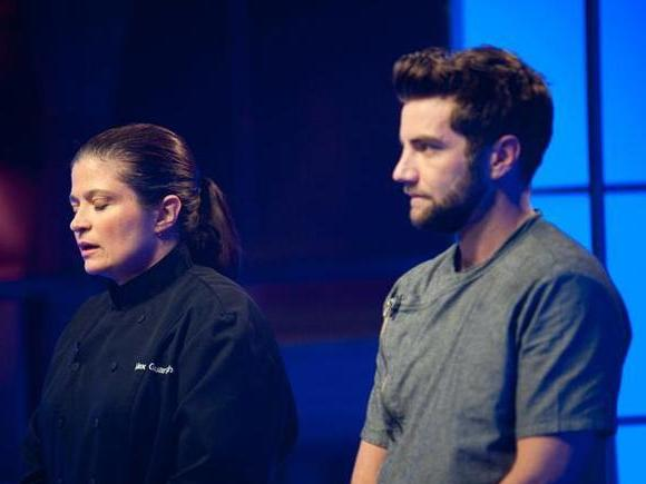 Chefs Alex Guarnaschelli and Marcel Vigneron