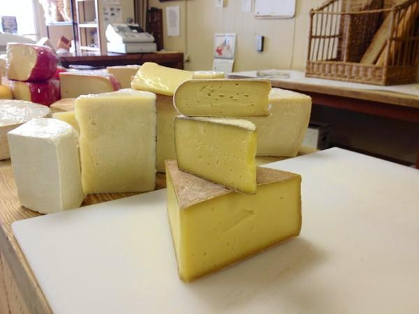 Assorted cheeses from Meadow Creek Dairy in Galax are available at The Cheese Shoppe in Nepwort News and The Cheese Shop in Williamsburg.