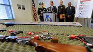 Baltimore County Executive Kevin Kamenetz and Police Chief Jim Johnson on Monday called on state and federal lawmakers to strengthen laws on background checks for gun buyers and stop the sale of assault weapons and high-capacity magazines in the wake of the Connecticut school mass shooting that left 28 dead.