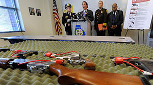 Kamenetz, Johnson call for tighter restrictions on assault weapons, ammunition