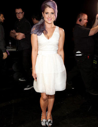 "Kelly Osbourne looking trim backstage at VH1's ""Divas"" concert at the Shrine Auditorium in Los Angeles on Sunday."