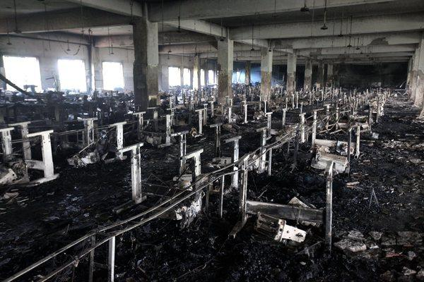 The inside of the Tazreen Fashions garment factory near Dhaka, Bangladesh, after a deadly fire Nov. 24.