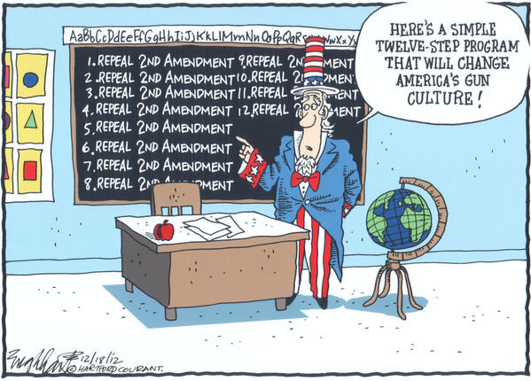 Repeal the 2nd Amendment cartoons