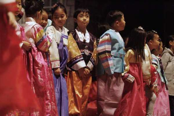 Performers wait before they perform during Korean Culture Night, which took place at La Cañada High School.