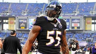 Terrell Suggs played through pain against Broncos