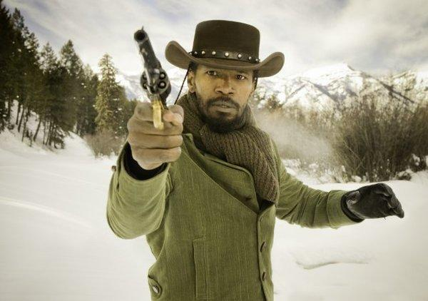 "Jamie Foxx stars in ""Django Unchained,"" which will no longer have a Hollywood premiere."