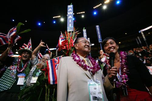 U.S. Sen. Daniel Inouye attends the 2008 Democratic National Convention in Denver.