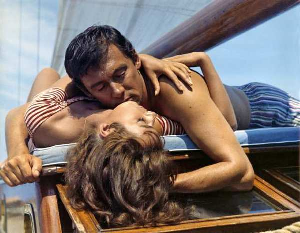 "Marie Lafort and Maurice Ronet in ""Purple Noon,"" now on DVD."