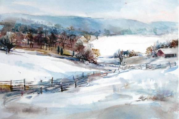 """South MountaIin, WInter"" by Bonita Glaser."