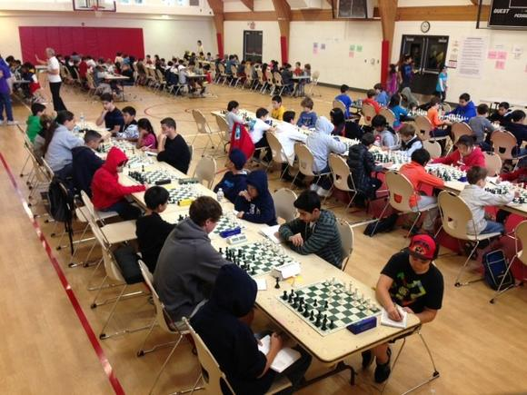 Chess players compete Sunday at the Maple Community Center in Glendale