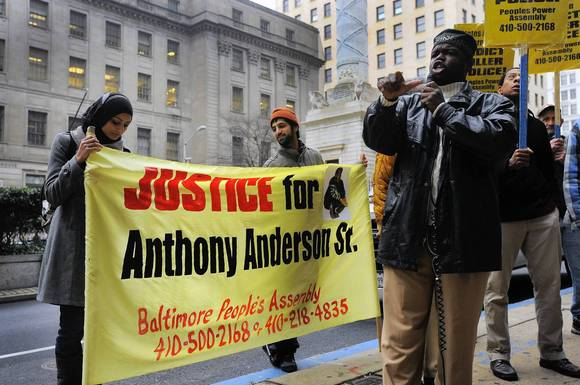 Anthony Anderson protest
