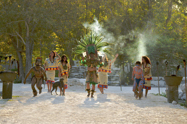 Dancers celebrate the end and the beginning at Sandos Caracol Eco Resort & Spa in Riviera Maya, Mexico.
