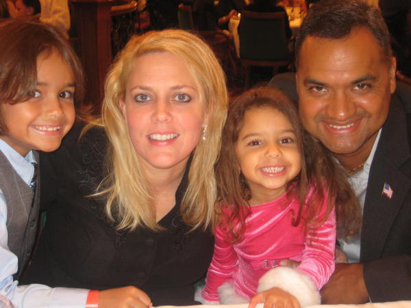 The Silva family: (from left) Spencer, Robin, Heather, Armando Silva