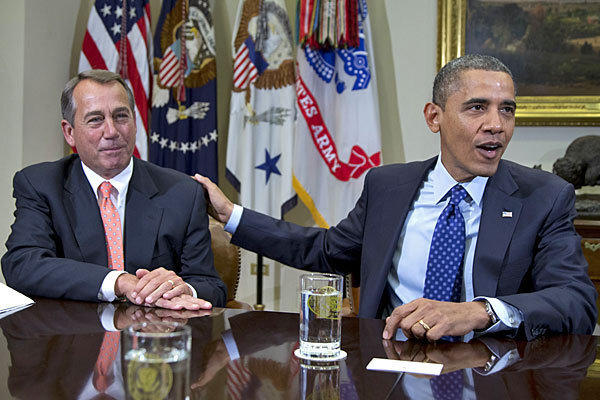 House Speaker John A. Boehner and President Obama at the White House in November.
